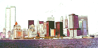 New York City skyline in 1970s, before the Buyback Era began ...